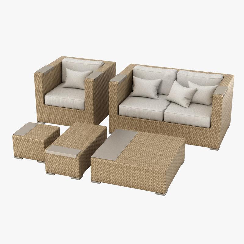 3d set dedon gardenfurniture model