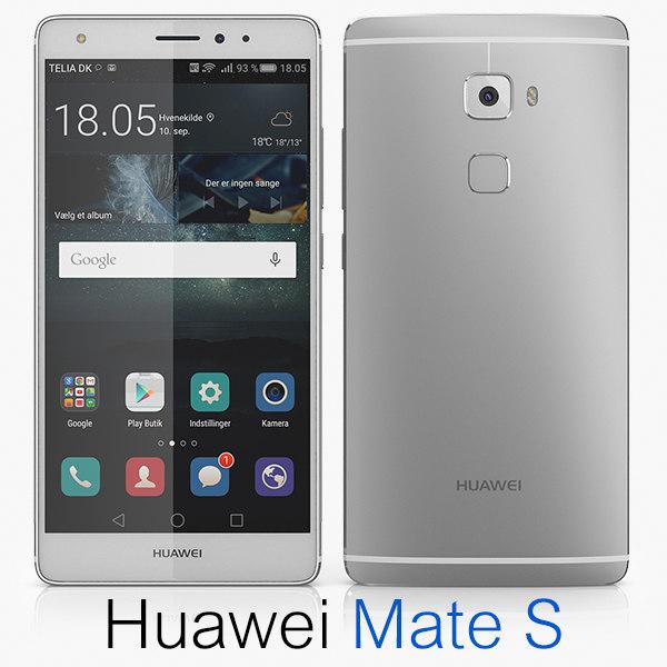huawei mate s 3d model