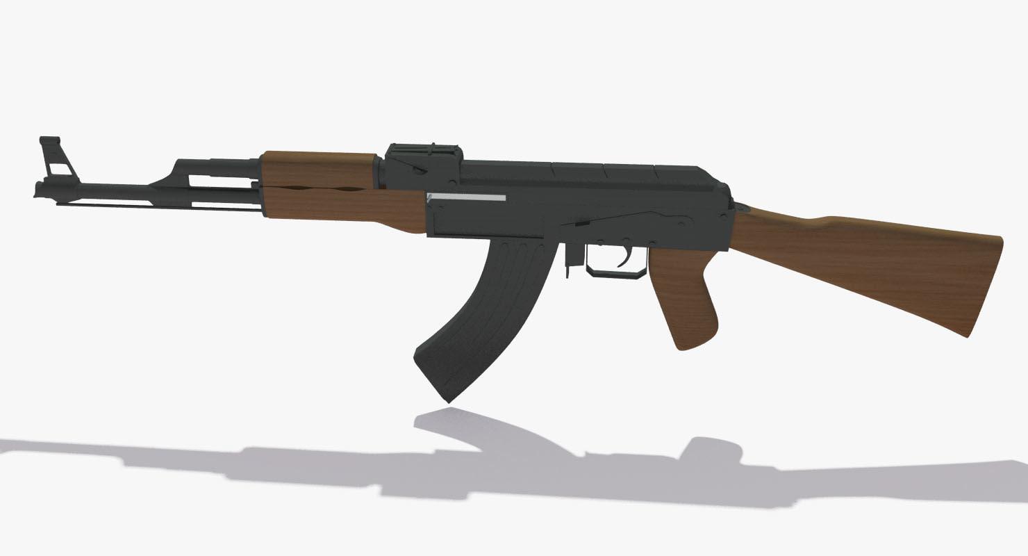 3d ak47 ak 47 model