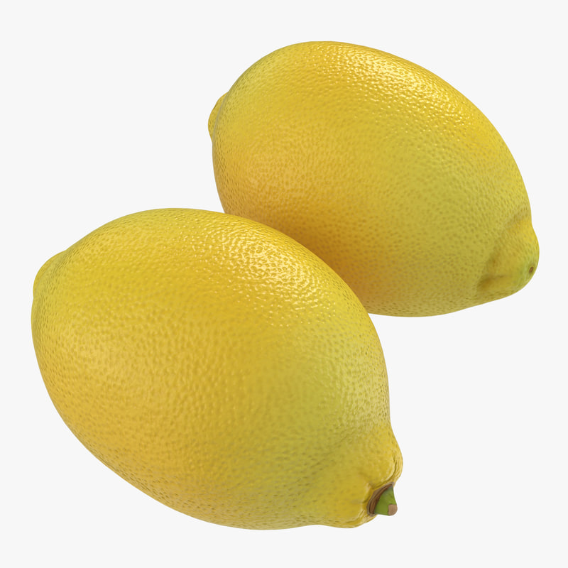 3d lemon realistic model
