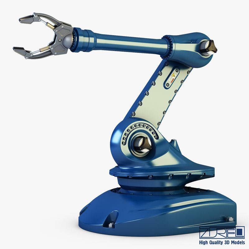 3d model industrial robot v 2