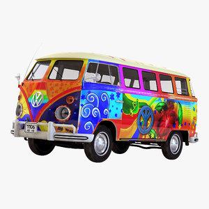 3ds volkswagen type 2 hippie
