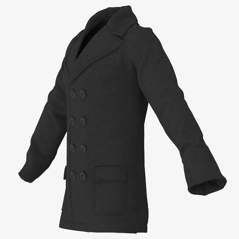 men breasted coat max