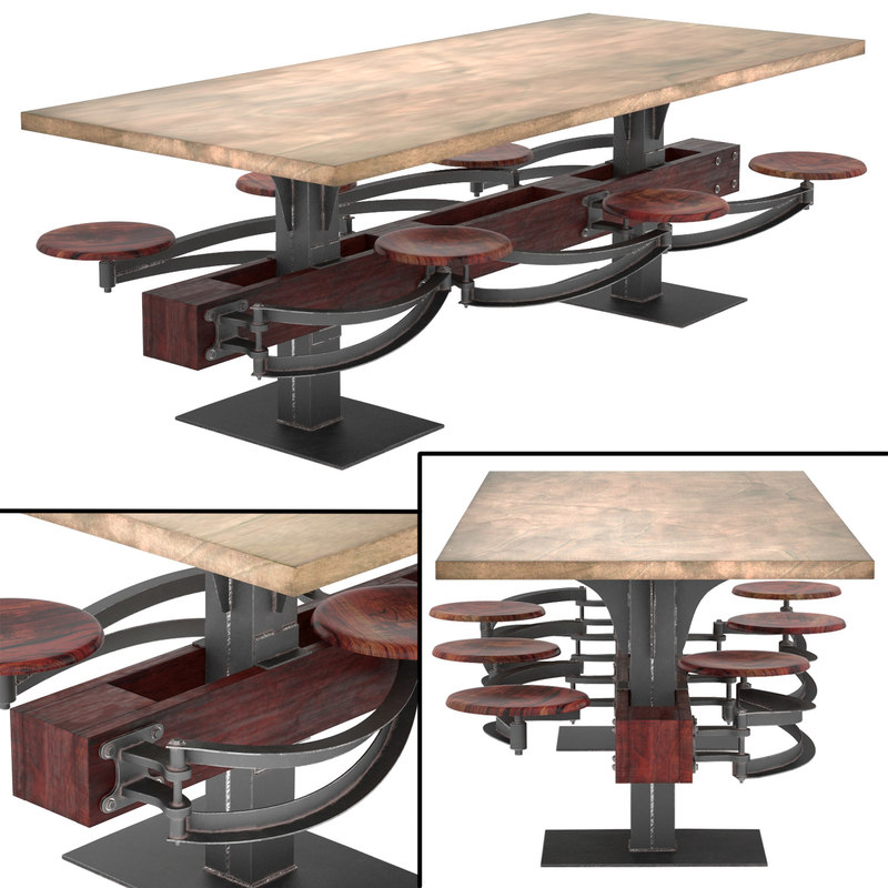 max perrin communal table attached. Black Bedroom Furniture Sets. Home Design Ideas