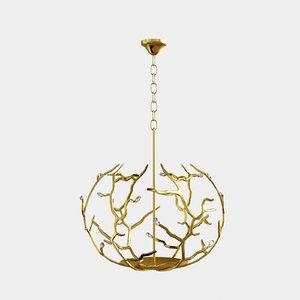 3d model porta romana blossom chandelier