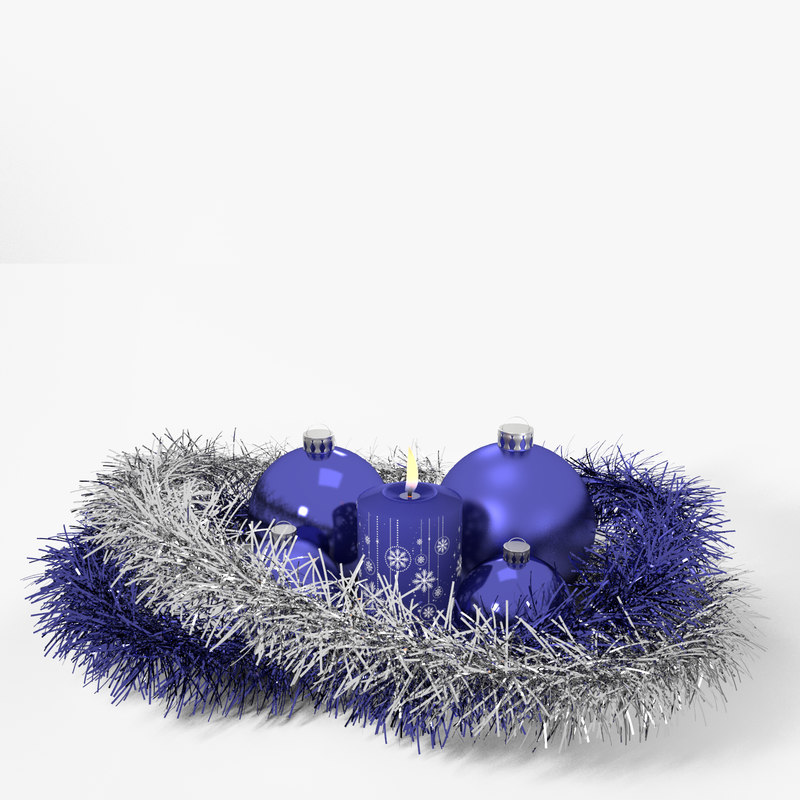 3d model candle tinsel