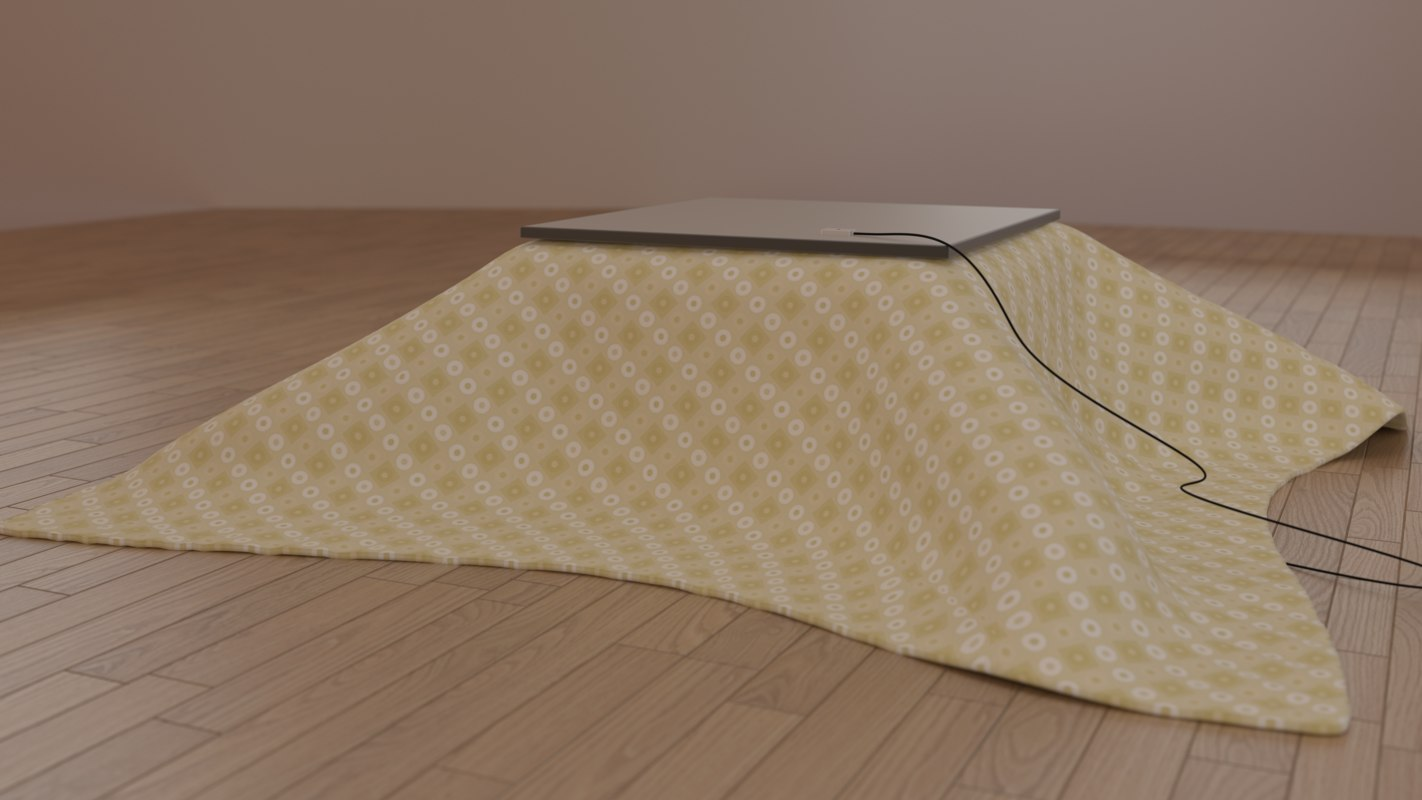 3d japanese kotatsu table