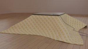 3d japanese kotatsu table