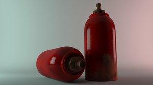 gas bottle 3d max