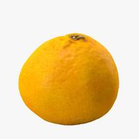 3d mandarin model