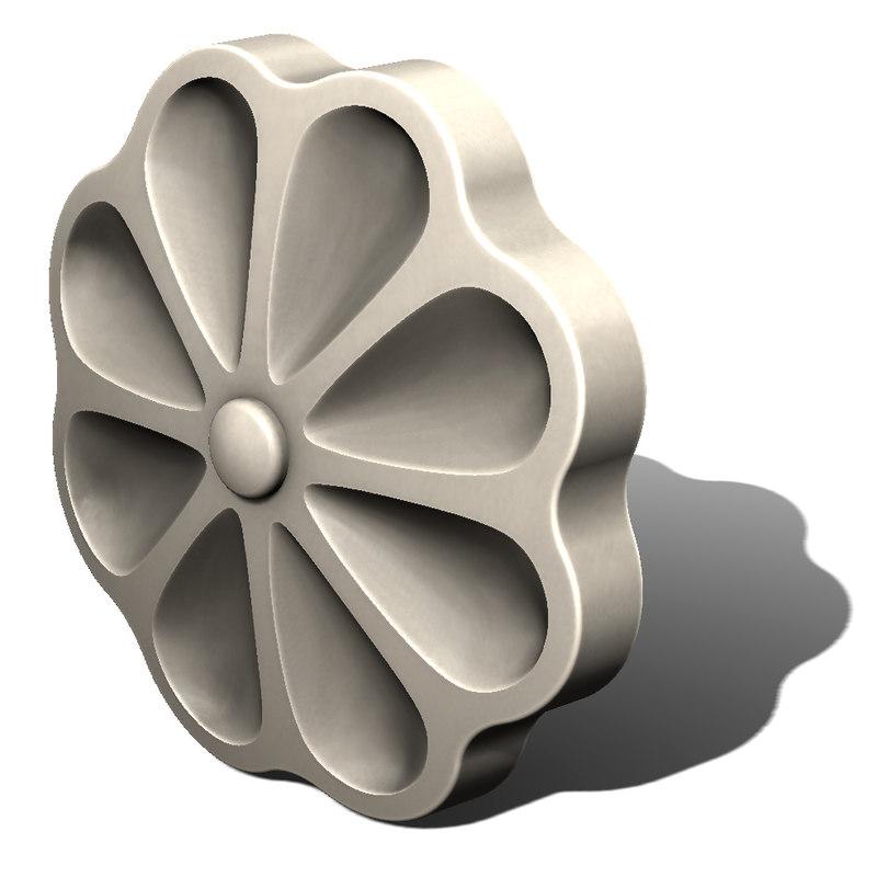 3d model decorative rosettes