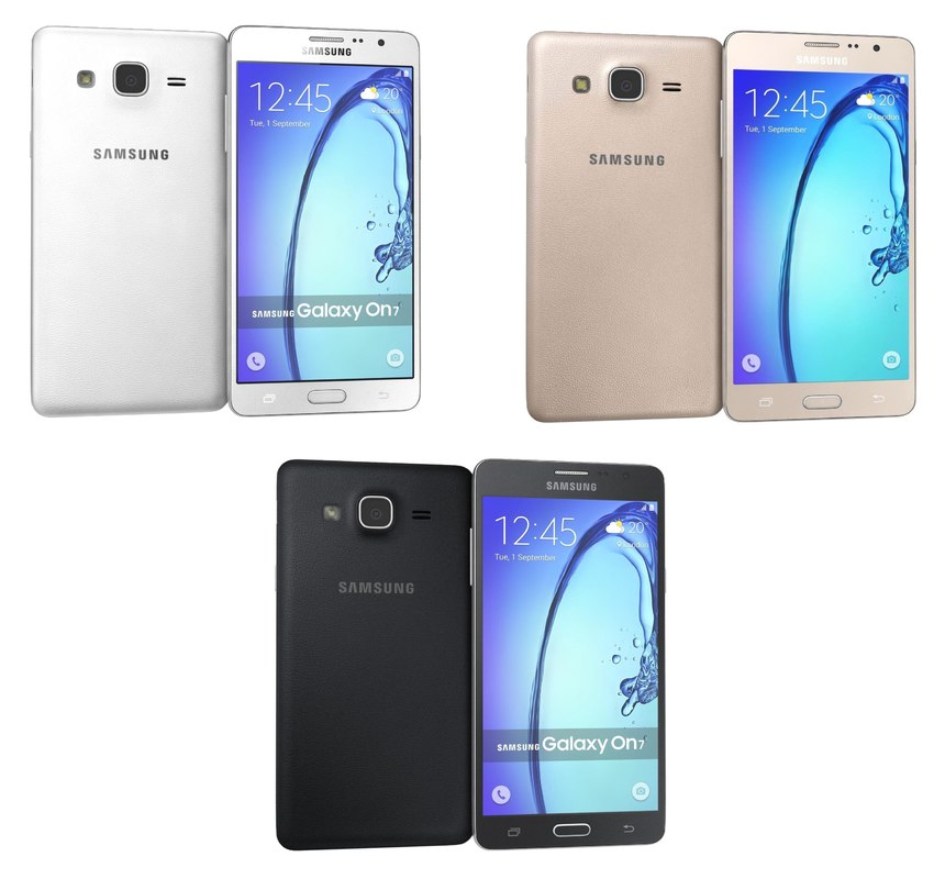 3d samsung galaxy on7 colors model