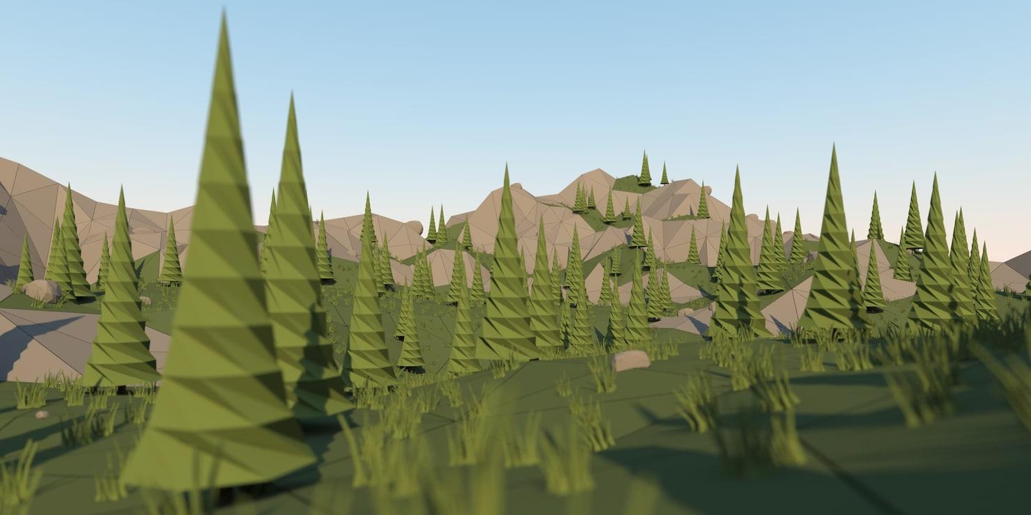 3d model landscape mountain