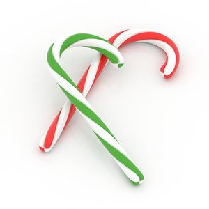 christmas candy cane 3d model