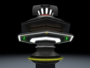 sentinel sci-fi military guard tower 3d 3ds