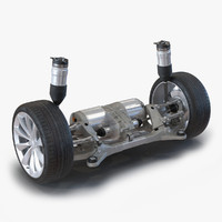 3d tesla s axle modeled model