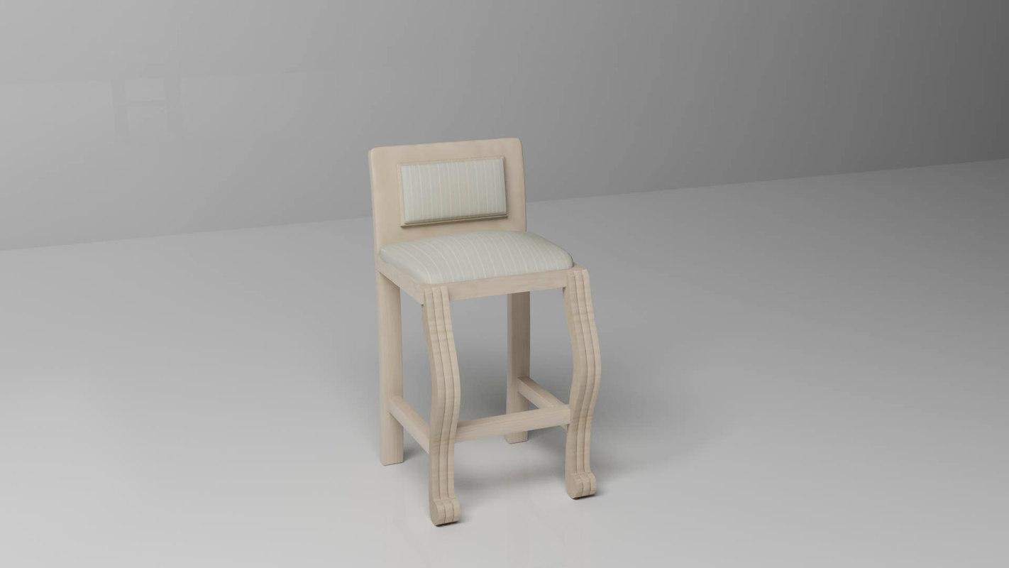 3d tall chair model