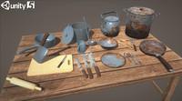 3d model kitchen sauce-pots covers