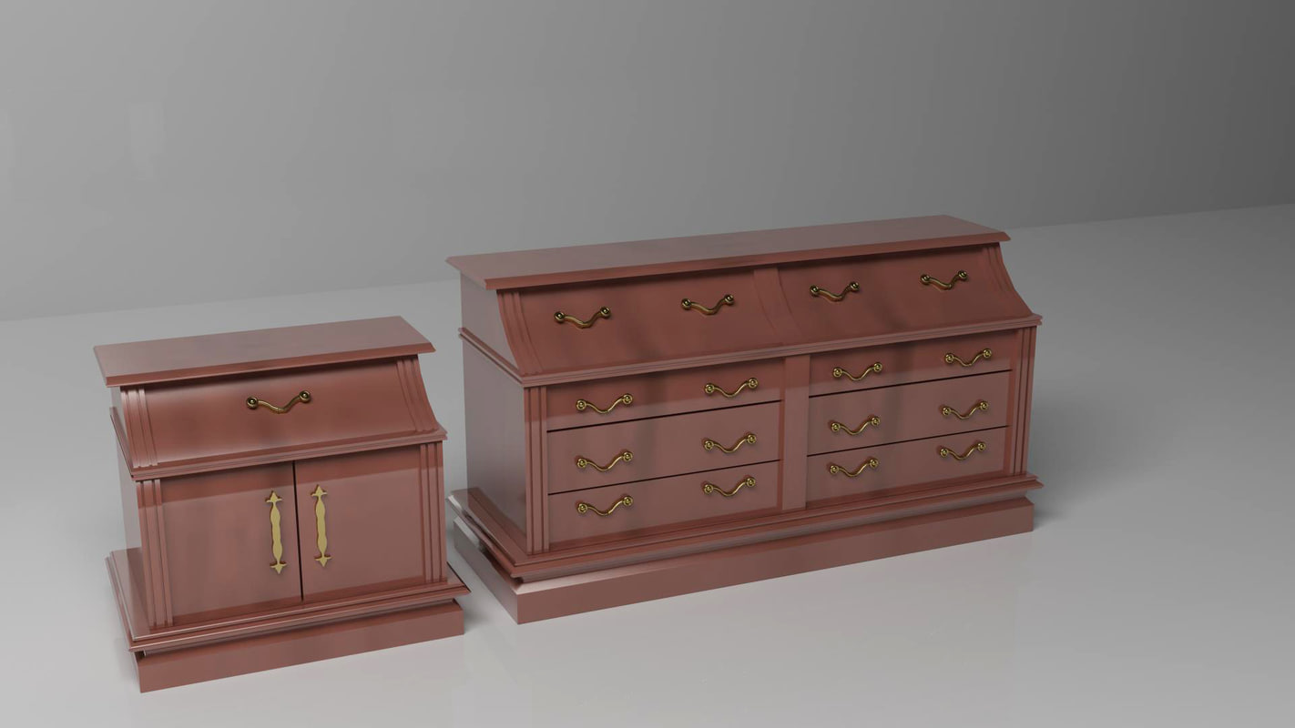 3ds max elegant drawers