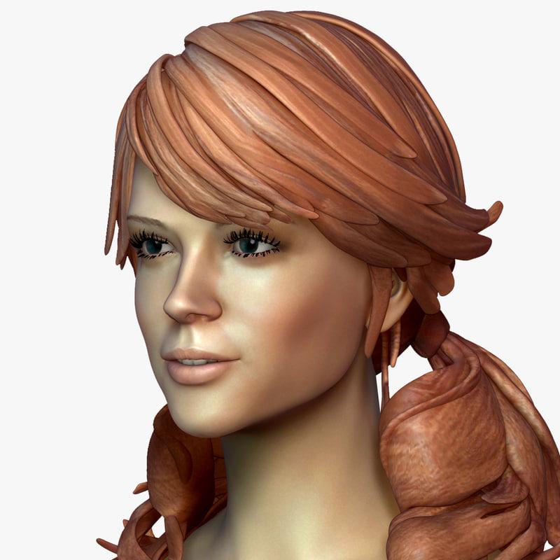 3d model zbrush female amber