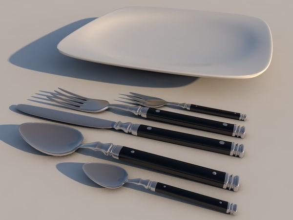 3d model dinner plate
