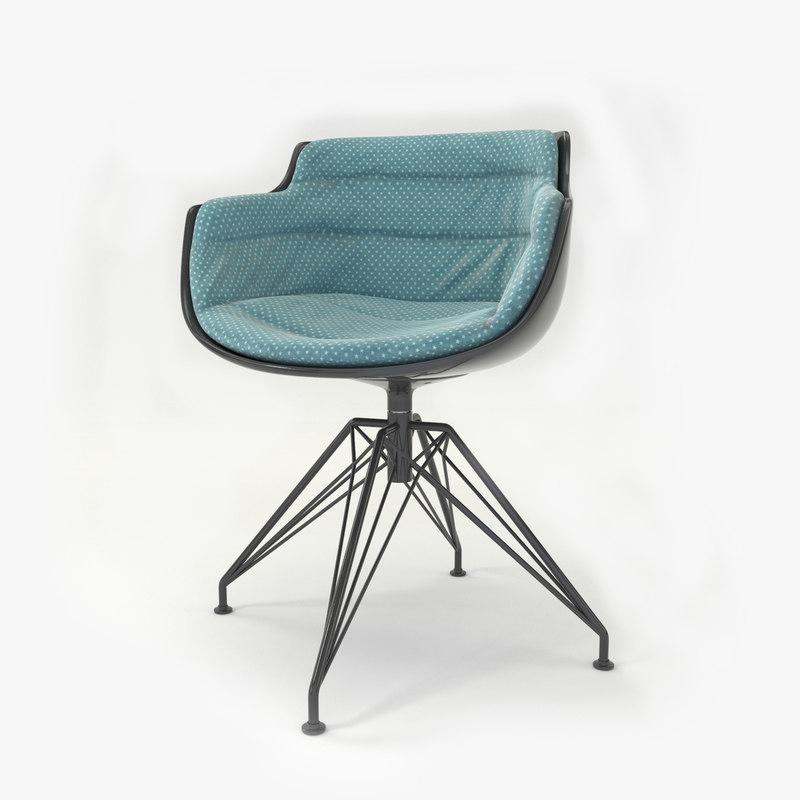3d model slim armchair