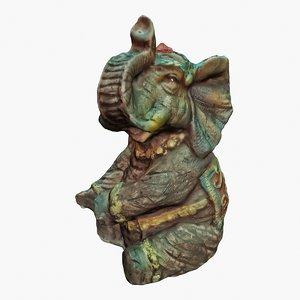 3dsmax elephant - souvenir