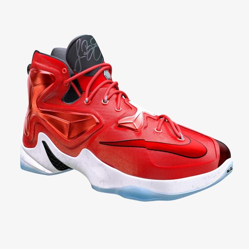 lebron 13 basketball shoe 3d obj