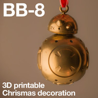 Star Wars BB8 christmas ball for 3D printing