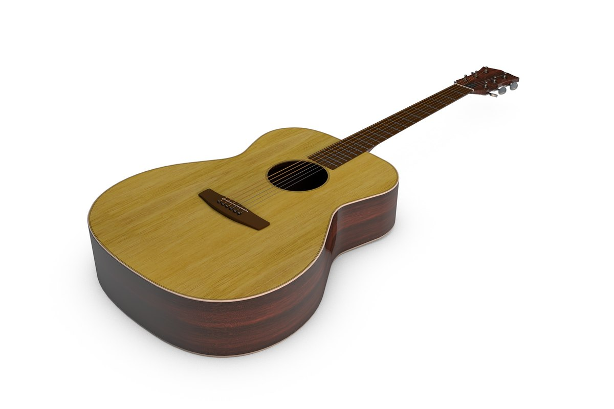 acoustic guitar 3d 3ds