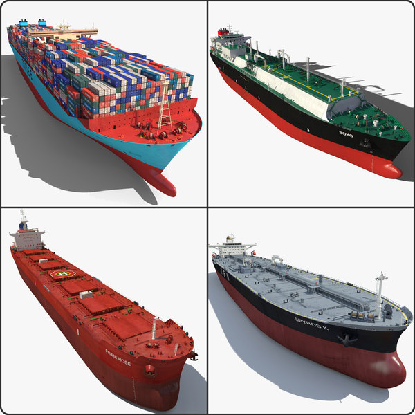 3d cargo ships 2