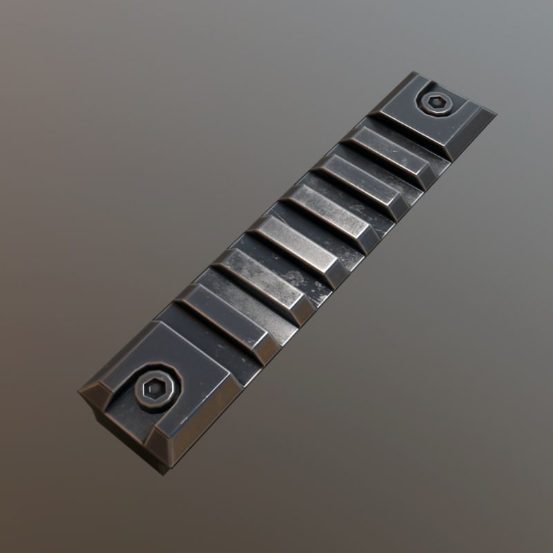 3d picatinny rail model