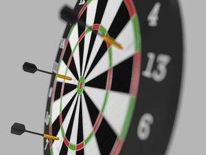 dart dartboard 3d max