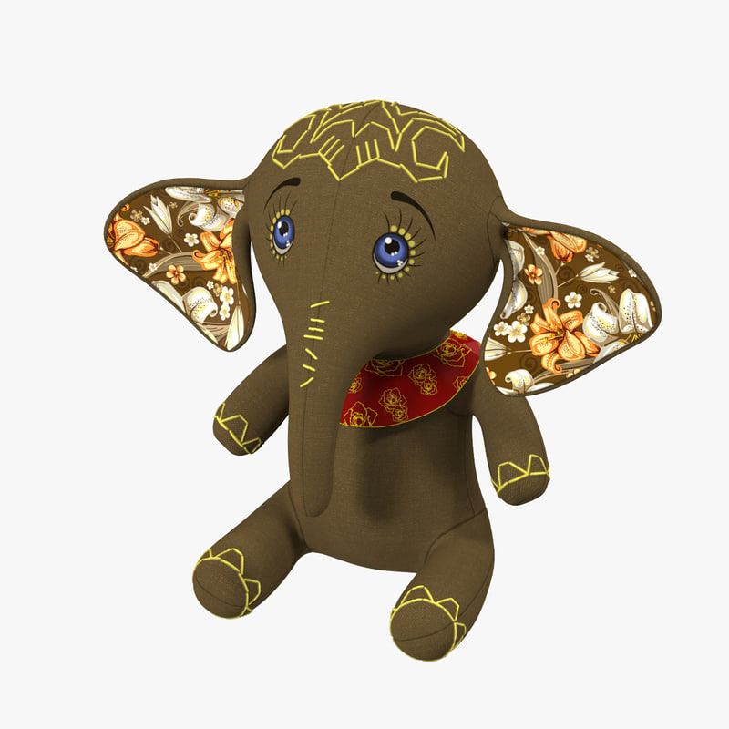 free elephant toy 3d model