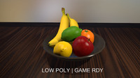 Low Poly Fruit Collection