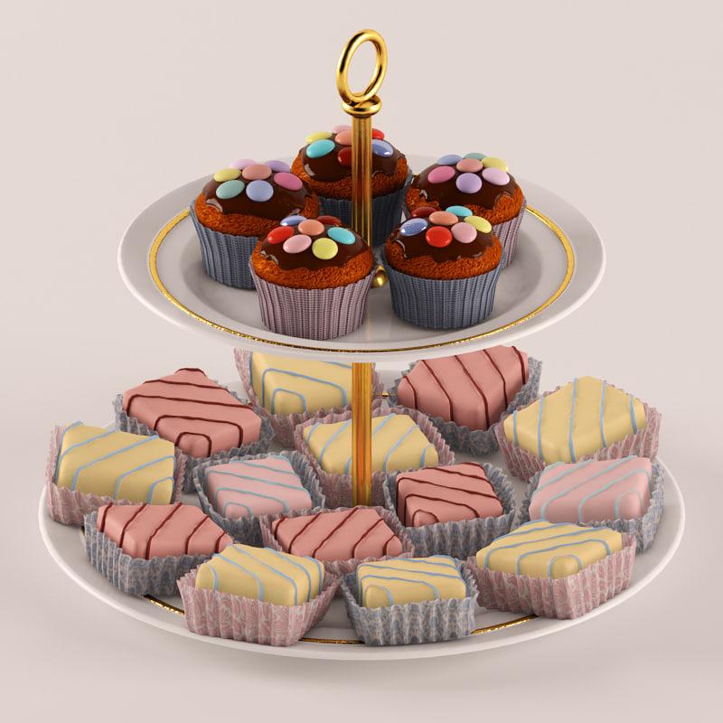 3d cakes v-ray realistic model