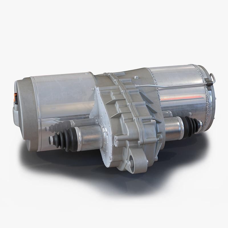 tesla electric motor 3d 3ds