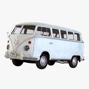 volkswagen type 2 white 3ds