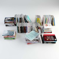 96 different books 3d model