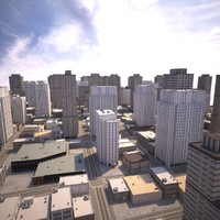 3dsmax cityscape scene highrise
