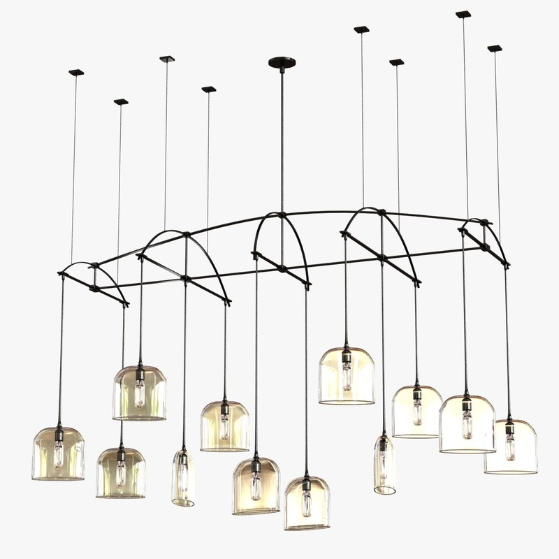 chandelier bow arrow 3d max