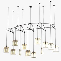 chandelier bow arrow 3d max