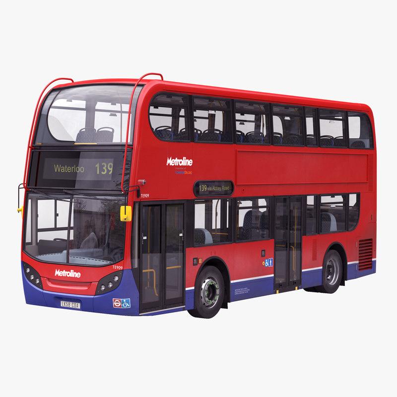 london bus enviro 400 3d c4d