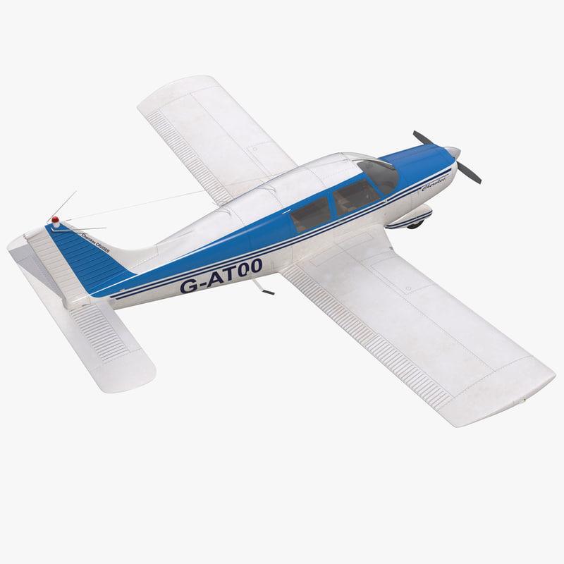 light aircraft piper pa 3d max