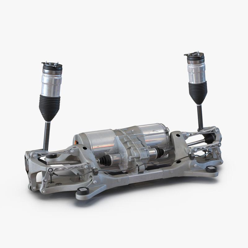 3d tesla s axle 2 model