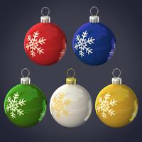 3d balls christmas model