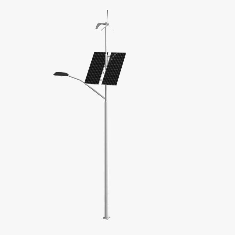 3d model of hybrid street lamp