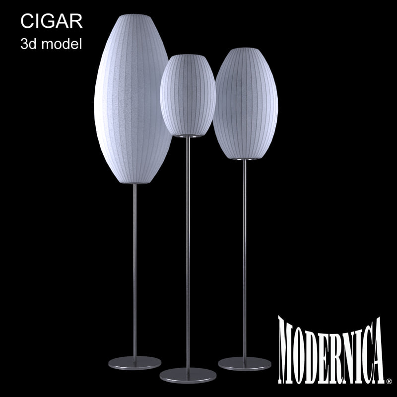 3d modernica cigar floor lamp model