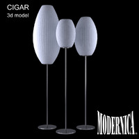 3d modernica cigar floor lamp model