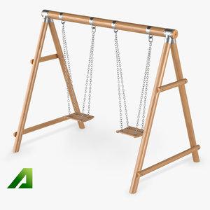 kids swing 3d model